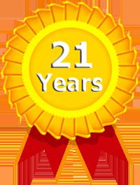 21 years website development