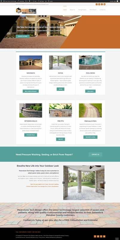 website development for Paverstone Tech Design