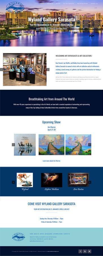 Web Design for Wyland Gallery Sarasota