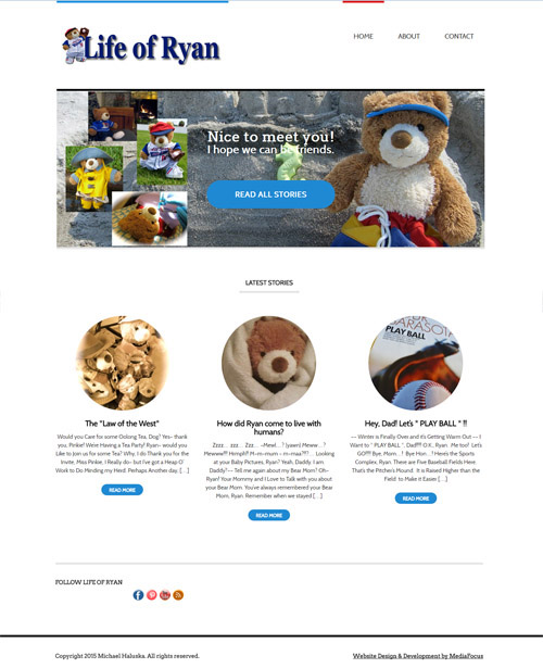 web design for Life of Ryan