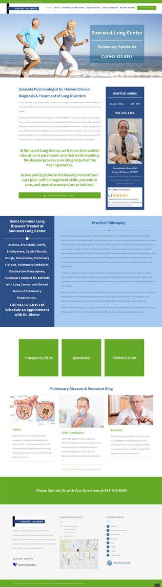 Website Development Suncoast Lung Center Sarasota